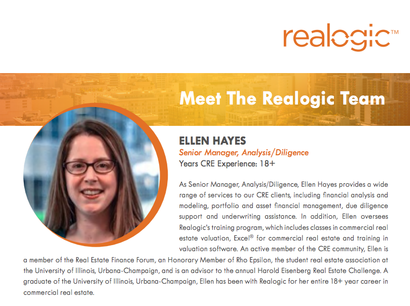 Getting to Know Ellen Hayes, Senior Manager, Analytics/Diligence