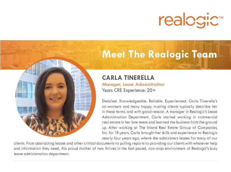 Getting to Know Carla Tinerella, Manager, Lease Administration