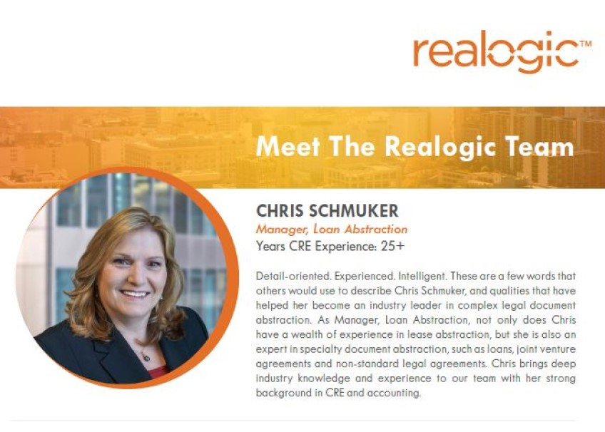 Getting to Know Chris Schmuker, Manager, Loan Abstraction